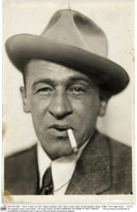 """Paris, France: ca 1925. Blaise Cendrars (1887-1961), French writer. ©Henri Martinie / Roger-Viollet / The Image Works NOTE: The copyright notice must include """"The Image Works"""" DO NOT SHORTEN THE NAME OF THE COMPANY"""