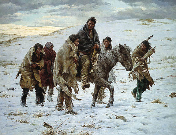 terpning-chief joseph rides to surrender
